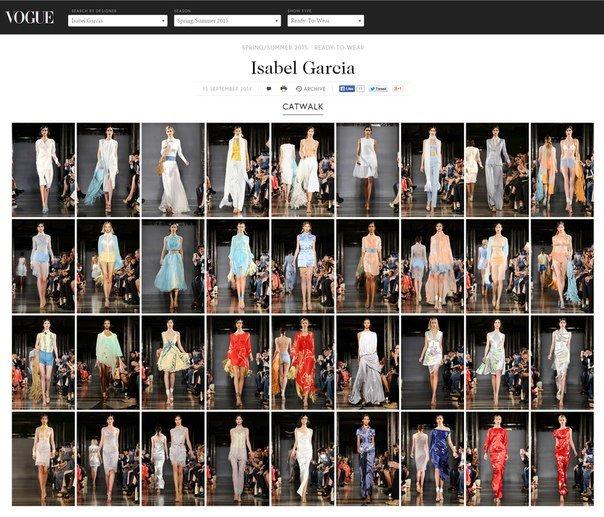 Isabel Garcia на сайте Vogue UK
