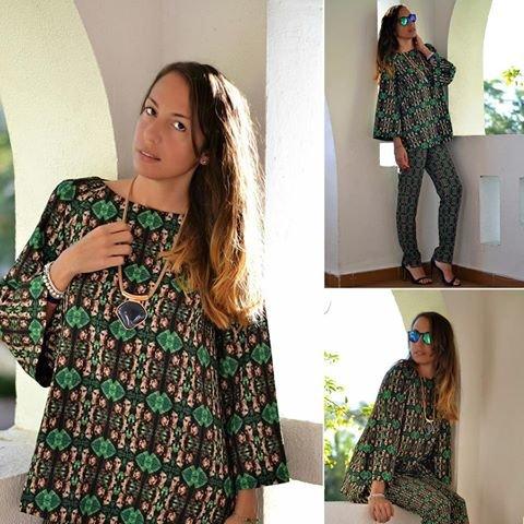 блоггер Элиса Занетти в наряде Isabel Garcia