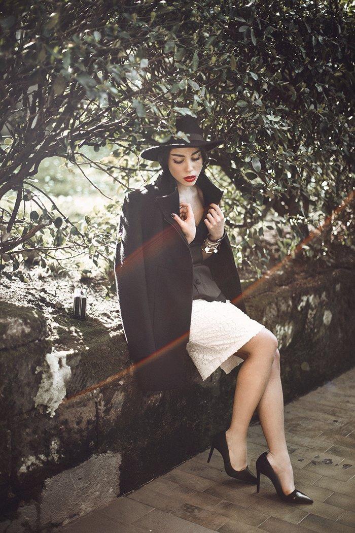 блоггер Мия ди Доменико в наряде от Isabel Garcia