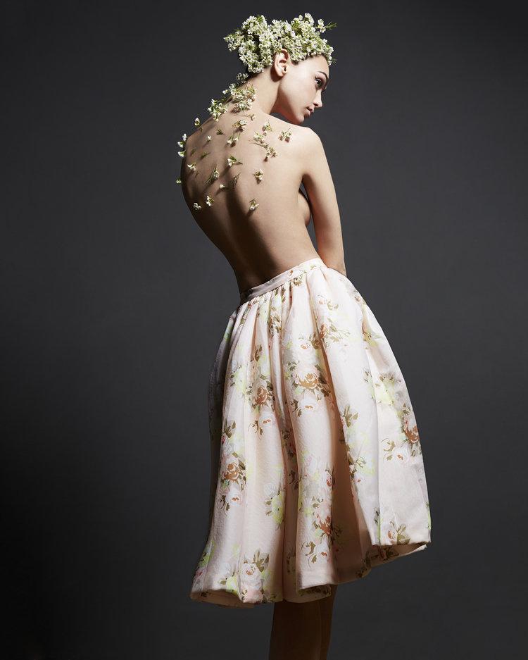 топ модель Женя Катава в наряде от Isabel Garcia фотограф Альберто Мария Коломбо