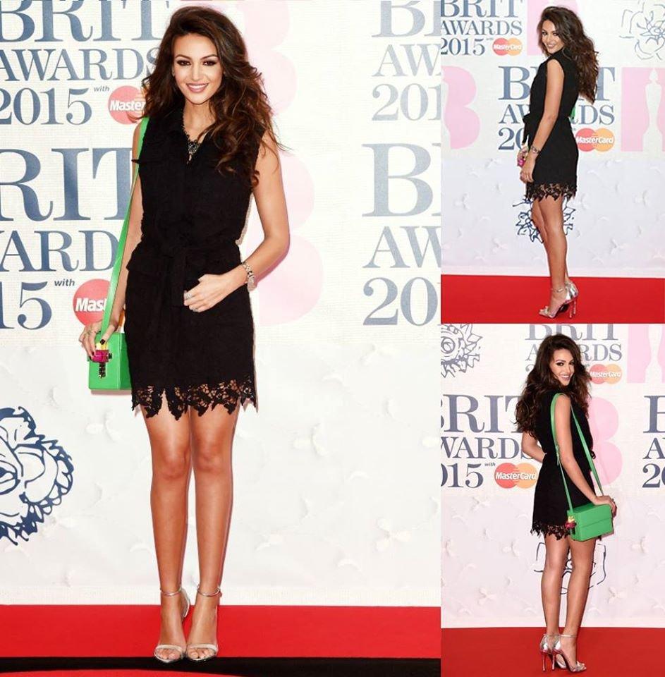 Мишель Киган Michelle Keegan в наряде Isabel Garcia на церемонии Brit Awards