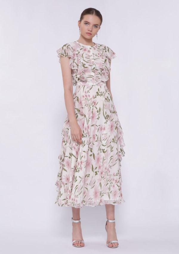 Коктейльное платье миди BN2198