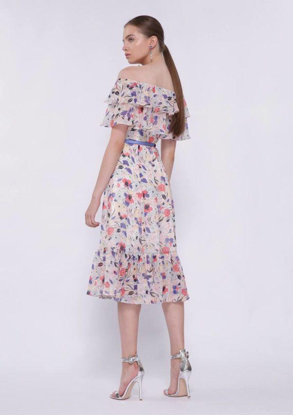 Коктейльное платье миди BI2197