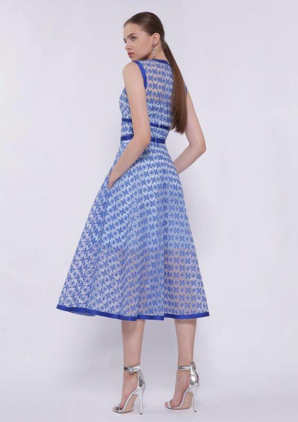 Голубое коктейльное платье BN2170