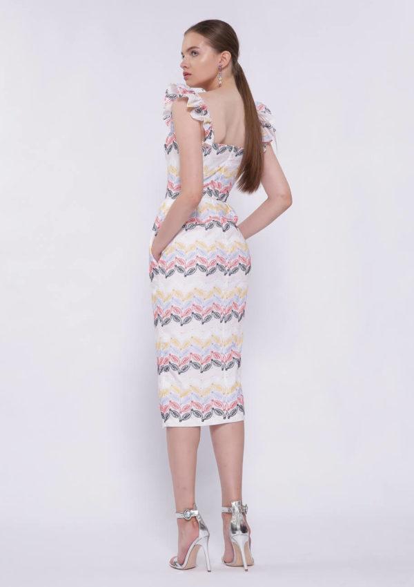 Коктейльное платье на брителях BN2204