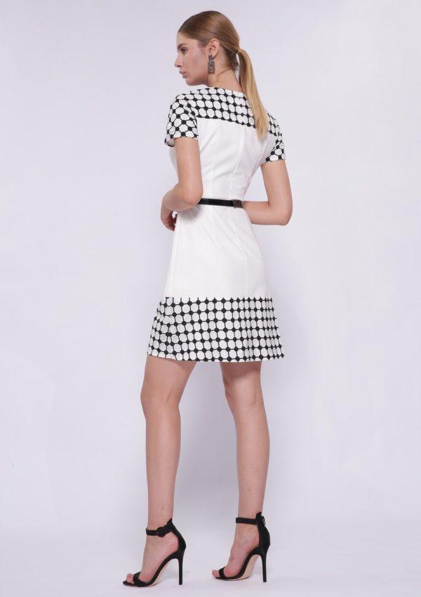 Черно-белое коктейльное платье BB2177