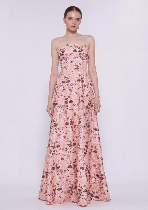 Вечернее платье мультиколор BB2222