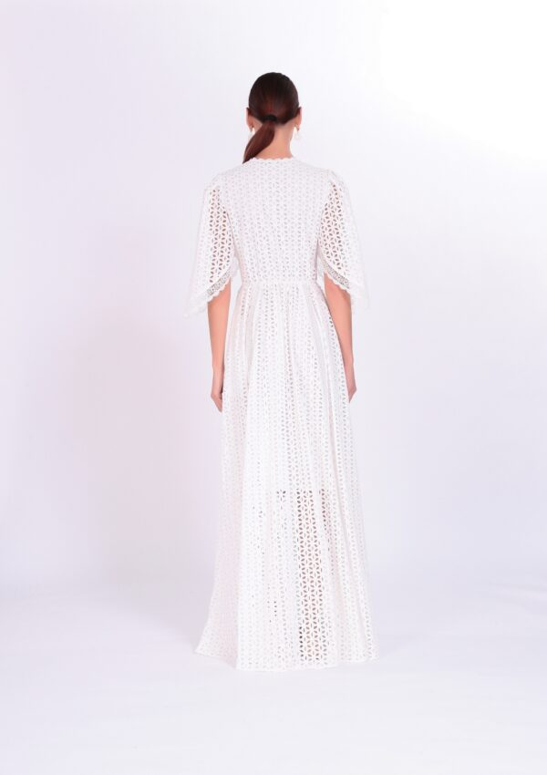 белое платье в пол на свадьбу